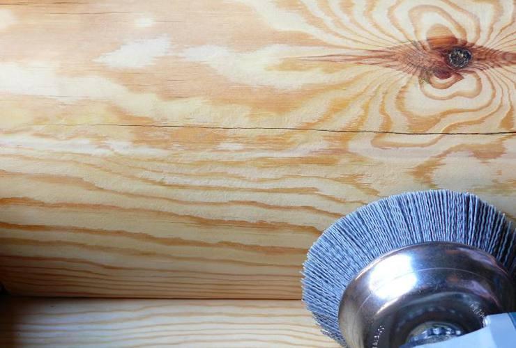 Обработка деревянного сруба