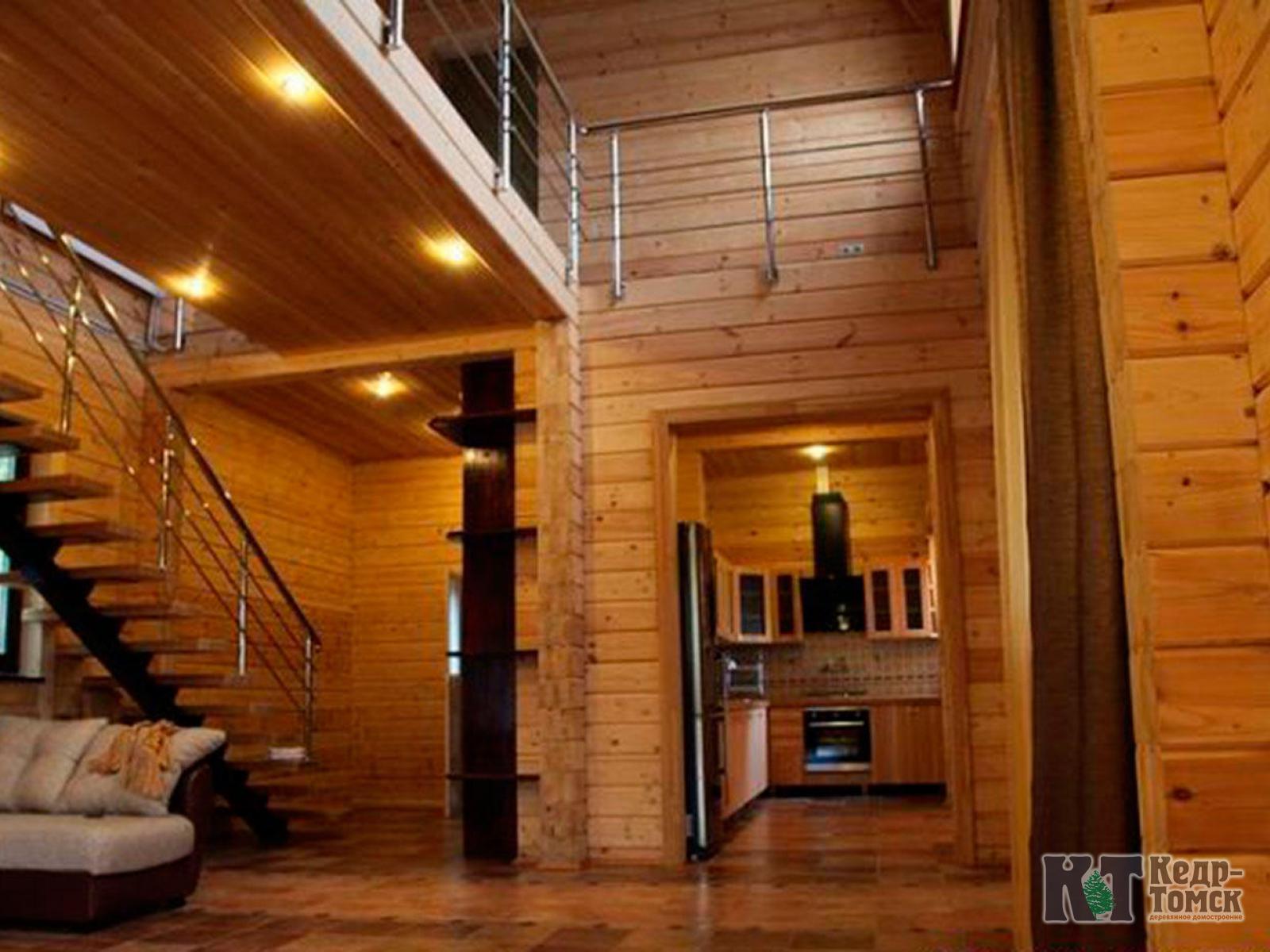 Дом из бруса  интерьер фото 50
